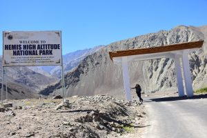The boundary to Hemis national park, Ladakh.