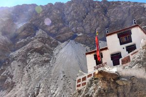 Buddhist monastery in Skiu, Ladakh.