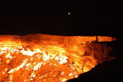 darvaza gas crater night