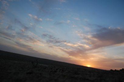 karakum desert sunset turkmenistan