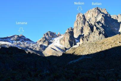 mount kenya summits lenana batian nelion