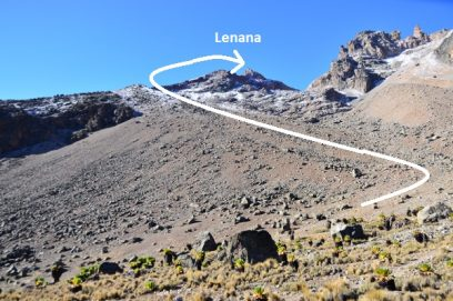 scree slope lenana mount kenya