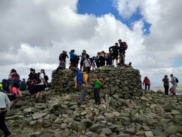 summit scafell pike cumbria